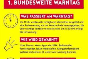 Bundesweiter Sirenen-Warntag