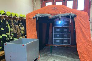 Neues Einsatz- und Rettungszelt für die LG Merten